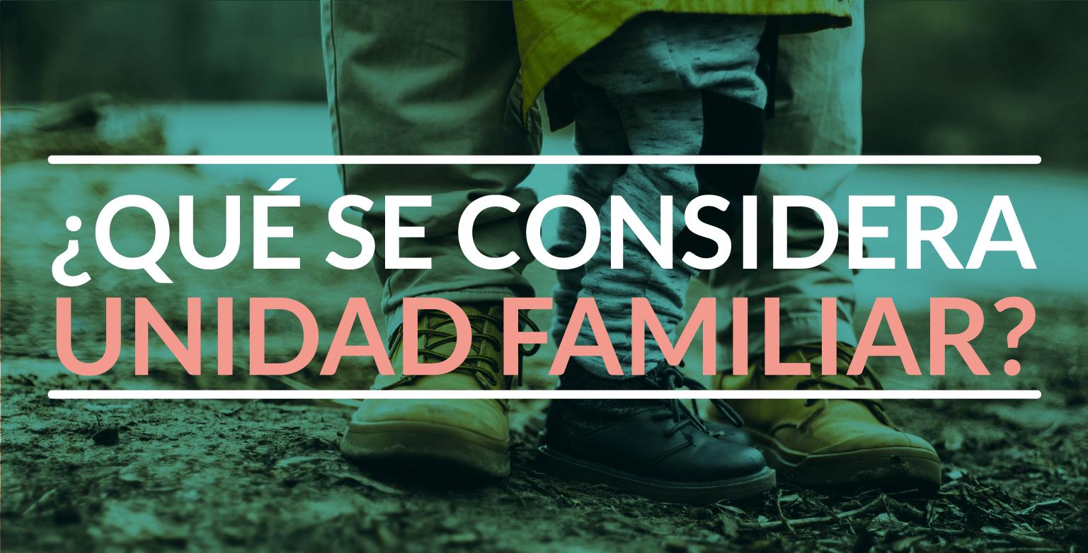 ¿Qué se considera unidad familiar?