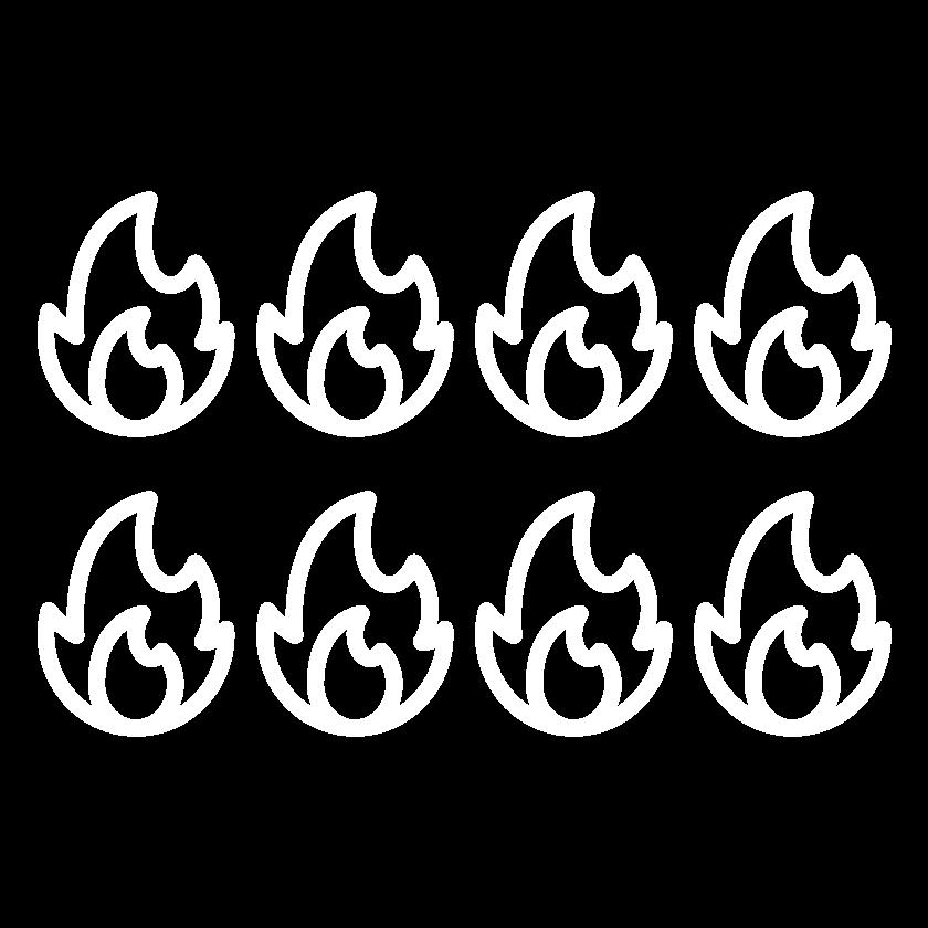 seis de cada ocho incendios